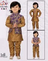 3 Pcs Kids 6 In 1 Sherwani