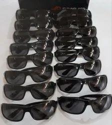 Square Black Mens Sunglasses