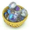 Titanium Aura Quartz Blue Firing Tumbled Stone Pebbles Reiki Healing Crystal 200grams In Basket