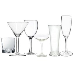 Transparent Stem Glass Glassware -  Kinds Of Glassware, For Restaurant, Capacity: 245 mL