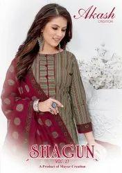 Akash Creation Shagun Vol 27 Cotton Printed Dress Material Catalog