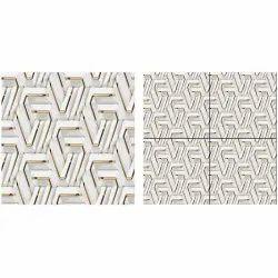 Polished Square Ceramic Glazed 3D Tiles, Size: 2 X 2 Feet