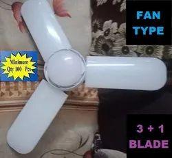 Ceramic T-Shaped Fan Blade LED Bulb, 6500 K, Model Name/Number: 0029