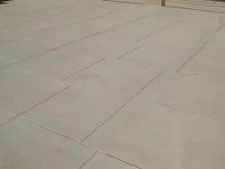 Black Concrete Finish Limestone, Slab, Thickness: 15 Mm