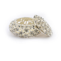 Crystal Studded Flower Enameled Jewelry Box (Big)