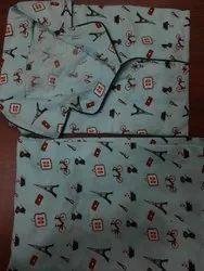 Full Length Printed Ladies Cotton Night Suit, XL