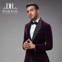 Dulhe Raja Wine Party Wear Suit