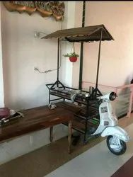 White Wood & Iron Retro Industrial Furniture, For Home Living