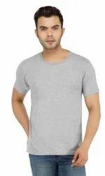 Mens Grey Half Sleeves T Shirt