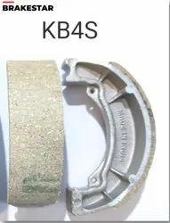 Two Wheeler 2 Pcs Bajaj KB4S Brake Shoe