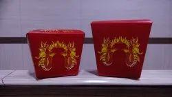 Thoran White Paper Wok Box, Size: Multiple Sizes