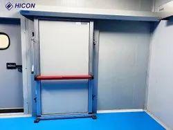 Blue Anodised Aluminium Frame CA Hospital Door