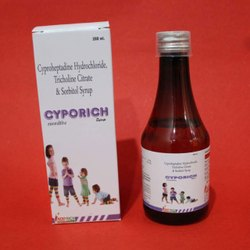 Cyproheptadine Hydrochloride Tricholine Citrate and Sorbitol Syrup