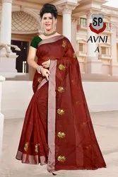 Printed Multicolor SP Avani Sarees, 5.5 m (separate blouse piece)