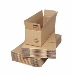 Rectangular Custom Printed Brown 3 Ply Corrugated Box, Size(LXWXH)(Inches): 12 X 24 X 12inch