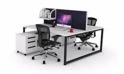 Back To Back Metal Office Table