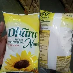 Mono Saturated Vitamin A Dhara Sunflower Oil, Packaging Type: Pouched, Packaging Size: 1 litre