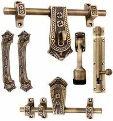 Unique Design Aluminium Door Kit, ANTIQUE BRASS, Aldrop Size: 10