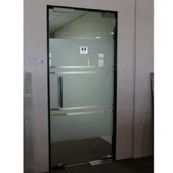 Hinged Office Glass Door, Thickness: 20 Mm