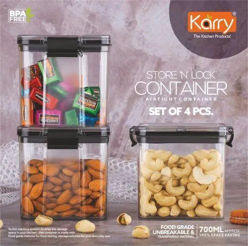 Pet Plain Karry N Lock Airtight, Airtight Food Storage Container