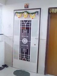 MS White Main Safety Door, For Home, Size: 8.4feet