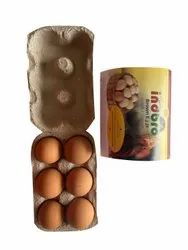6 Piece Farm Fresh Indbro Brown Eggs, For Household, Packaging Type: Tray