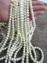 Faux Pearl White Color 8mm Beads Strand 16 Inch Long Jewelry Making White Pearl Beads