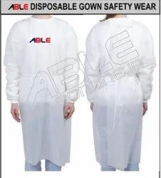 22 GSM Able Disposable Gown Safety Wear