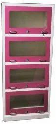 Pink SS Bookshelf Almirah, For Home, Size: 2x1.1x7 Feet