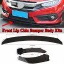 Universal Car Front Bumper Body Kit Splitter ( Black) ( Set Of 3)