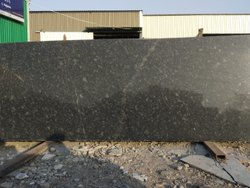 Black Polished Natural Granite Slab, For Countertops, Thickness: 15-20 mm