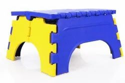 7 Inch Plastic Folding Stool Assorted Color