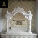 Pure White Pooja Ghar, For Home, Size: 4*6*2, 5*8*2.5 And Customizable