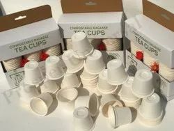 White Biodegradable Tea Cup, For Use And Throw, Packet Size: 100 Pieces