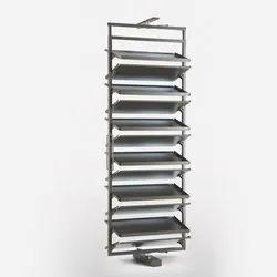 SLIMLINE White 360 Degrees Rotating Shoe Rack, For Wardrobe, 12