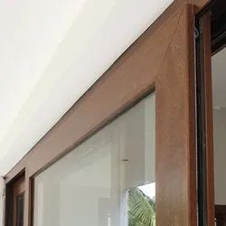 Interior & Exterior Wood Finish UPVC Sliding Doors And Windows, For Home