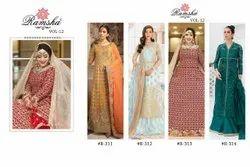 ANK Enterprise Georgrtte Net Heavy Embroidered Designer Pakistani Salwar Suit