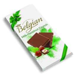 The Belgian Bar Milk Hazelnut Crunch, 100g