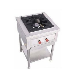 1 Stainless Steel SS Single Burner Cooking Range, For Commercial Kitchen, Size: 30 X 30 X 24 Inch