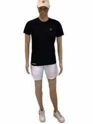 Male Polyester Half Sleeves T-Shirt, Age Group: 18 To 55
