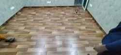 Oak Wood Brown 8mm Wooden Laminate Flooring, For Residential