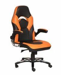High Back Leatherette Gaming Any Time Chair Black & Orange (VJ-2026)