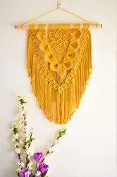 Modern White Handmade Macrame Wall Hanging, For Decoration
