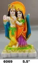 Multicolor Polyresin Radha Krishna Statue