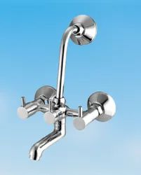 Cloudpro Three Handle 2 In 1 Brass Wall Mixer, Size: 19.9 X 17.5 X 8 Cm (lxwxh)