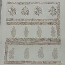 Cotton Block Print Table Runner