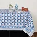 Indian Printed Tablecloth 60 X 90 Inches Rectangular - Floral Print Cotton - Home Table Decor