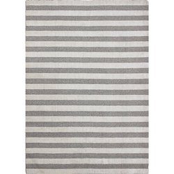 Handloom Grey-1 Stripe Area Rug And Carpets