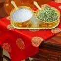 Netboon Brass Bowl Spoon And Tray Gift Set For Home Office Decoration