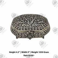 Silver Antique Metal Box
